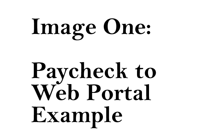 Payroll CPA Firm: Paycheck to Web Portal.